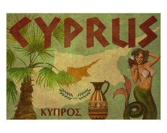 CYPRUS 2F- Handmade Leather Passport Cover / Travel Wallet - Travel Art