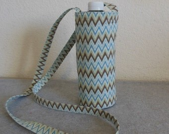 Insulated Water Bottle Carrier - Chevron
