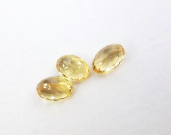 IMPERIAL / PRECIOUS ToPAZ. Natural. Native Cut. Long Pear Shape. Can be DRiLled. 3 pc. 1.86cts.4x6 mm  (Bt396)
