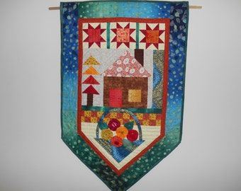 Home sweet home quilted wallhanging banner