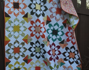 CUSTOM Fireworks Quilt (59in.x76in.)