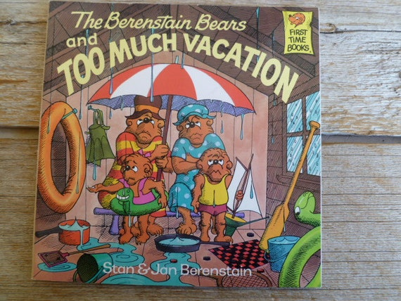 Berenstain Bears Old Book Cover : Vintage berenstain bears childrens book too much