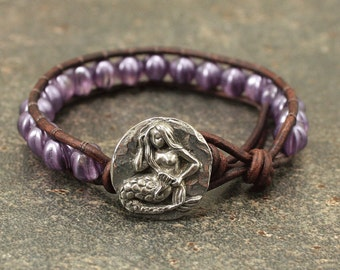Unique Mermaid Jewelry Purple Lavender Mermaid Bracelet