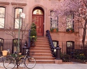 New York City Photography - Perry Street Photo - NYC Print - West Village - Greenwich Village - Urban Decor Bicycle Wall Art Photo