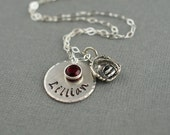 Softball Baseball Player Mom Personalized Hand Stamped Sterling Silver Necklace