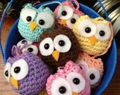 Hand Crocheted Owl Ornaments