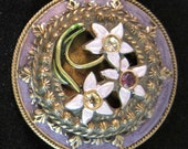 Pin, Jewelry, New, High Quality, Glass Gems, Vintage Theme, Banana Bob Findings, Brooch, Victorian