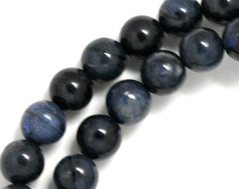 Dumortierite Beads - 8mm Round - Half Strand