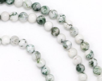 Tree Agate Beads - 3mm Round