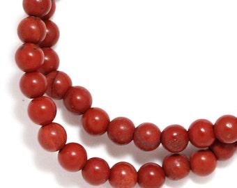 Red Jasper Beads - 4mm Round