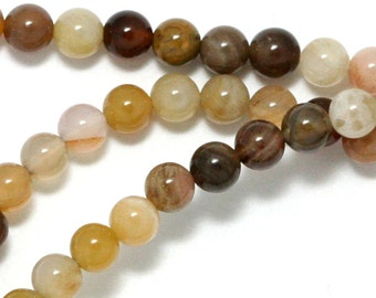 Wooden Agate Beads - 4mm Round - Limited Quantity