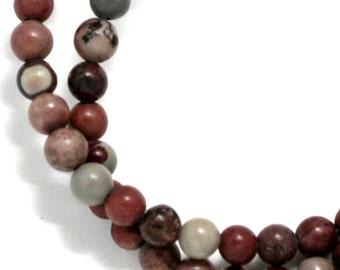Crazy Horse Stone Beads - 4mm Round - Half Strand