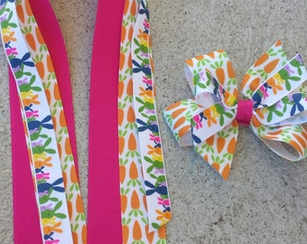 Bunnies and carrots bows