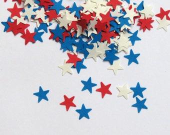 Small Stars Red White Blue Confetti 600 Pieces