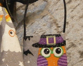Halloween owl tote bag for 10 to 12 inch fashion dolls