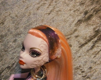 Galactic print headband for Monster and Ever after dolls