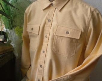 Sports elegant men shirt 100% cotton -barhet in yellow