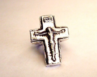 SUPER JESUS Crucifix RING in Sterling Silver