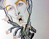 Eminem Caricature Hip Hop Music Art Rock and Roll Art