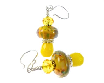 Lampwork Boro Earrings