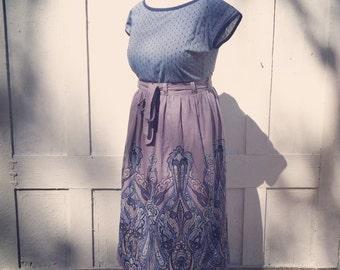 Gathered wrap skirt /dress