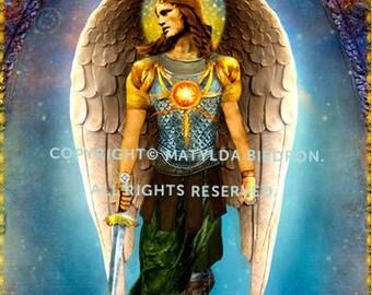 Saint Archangel Michael Holy Card
