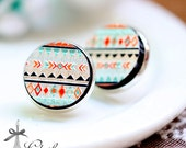 20% off -NEW Unique 3D Embossed 16mm Round Handmade Wood Cut Cabochon to make Rings, Earrings, Bobby pin,Necklaces, Bracelets-(WG-183)
