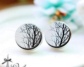 20% off -NEW Unique 3D Embossed Tree 16mm Round Handmade Wood Cut Cabochon to make Rings, Earrings, Bobby pin,Necklaces, Bracelets-(WG-240)