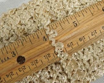 Vintage Sewing Trim  Silky Beige Rayon Fringe13 Yards