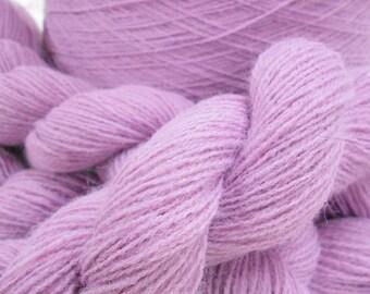 Lace Weight Lavender Yarn, 2 ply Acrylic Yarn, Knitting Supplies, 3 Skeins Vintage Knitting Yarn, Y124