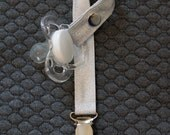 Pacifier Clip Bling - Silver
