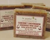 Handmade Cabernet Sauvignon Wine Soap