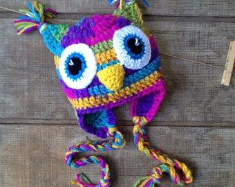 Crochet Owl Hat, Owl Hat