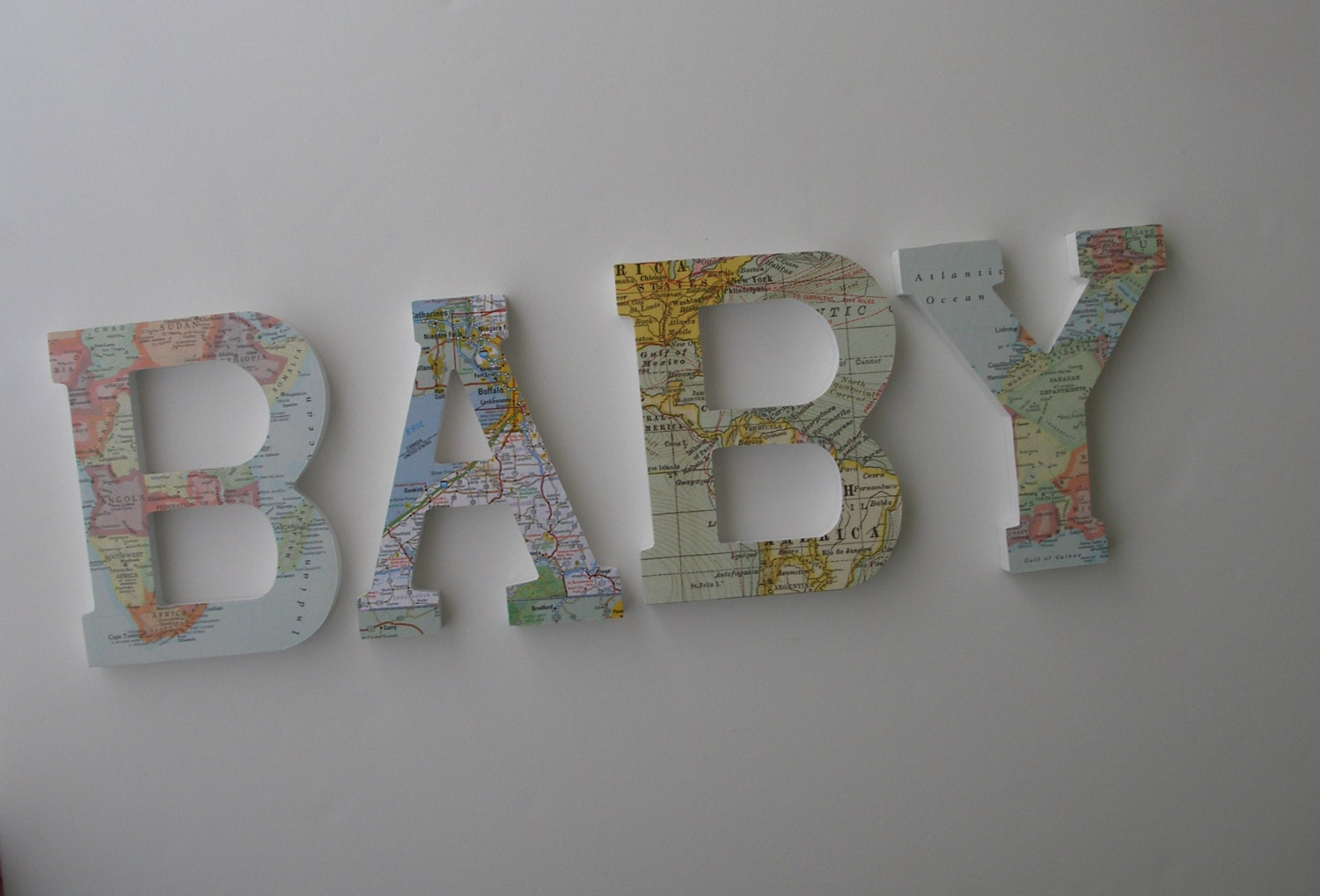 baby map custom wooden letters nursery name d cor travel