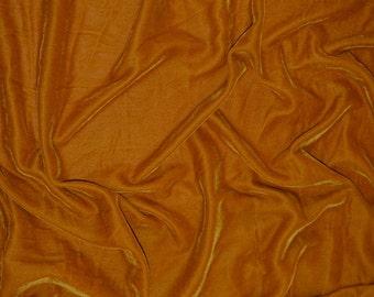 Velvet in Copper Yellow by the yard - V4