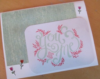 You and Me -- Blank Greeting Card