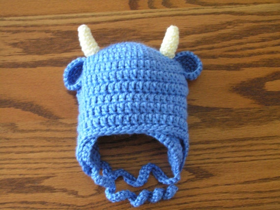 Buffalo Bull hat for toddler 12 to 18 months and 18 months to 3T infant, children fan - Babe Blue Ox, Colorado