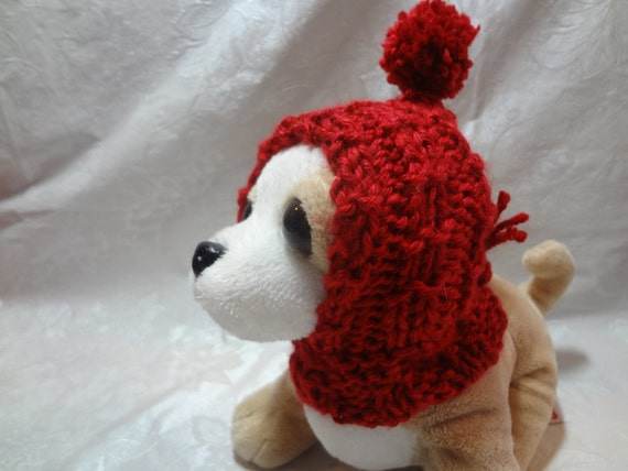 Knitting Patterns For Xxs Dogs : Hand knitted XXS Chihuahua Tiny Dog Mini Dog Doggie Cowl
