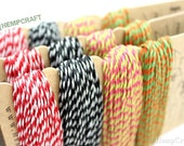Hemp Twine, Baker's Twine Color Card- High Quality 20lb 1mm Four Pack Craft Cord