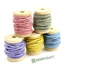 Hemp Cord Mini Spools, Pastel Color Combo, 1mm Card Making Twine