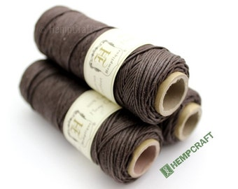 Hemp Twine, 1mm Dark Brown High Quality Colored Craft Cord