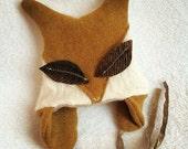 BABY FOX HAT, Fox Hat, Baby Shower Gift, Newborn Fox, Photo Prop, Cashmere Sweater Recycled Baby Fox Hat