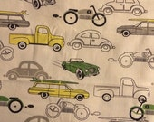 Cars and trucks - Duck Cloth - Home Decor - 1 yard