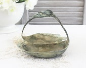 Vintage Swan Serving Dish, Rustic Home Decor