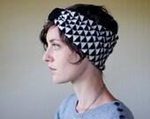 Geometric Knit Headband Wool Turban Knit Accessories