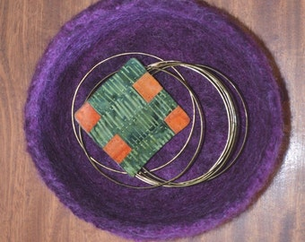 Felted Bowl in Shades of Violet