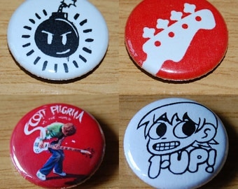 Scott Pilgrim Button Badge Set 25mm / 1 inch Michael Cera Comic Book Geek