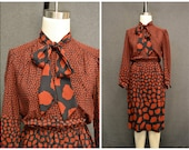 1970s Willi of California Organic Print Dress