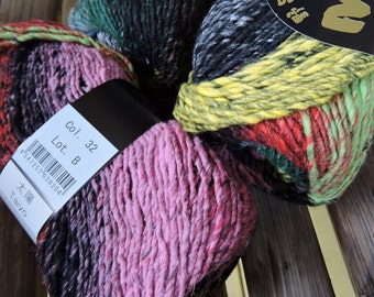 WORSTED Weight Yarn - Noro Taiyo - Cotton Silk Wool Nylon Blend - Color #32 - 100 grams - 220 yards