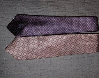 Lot of 2 - Vintage Neck Tie